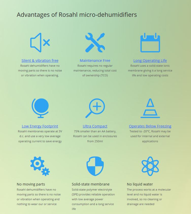 Advantages of Rosahl dehumidifiers